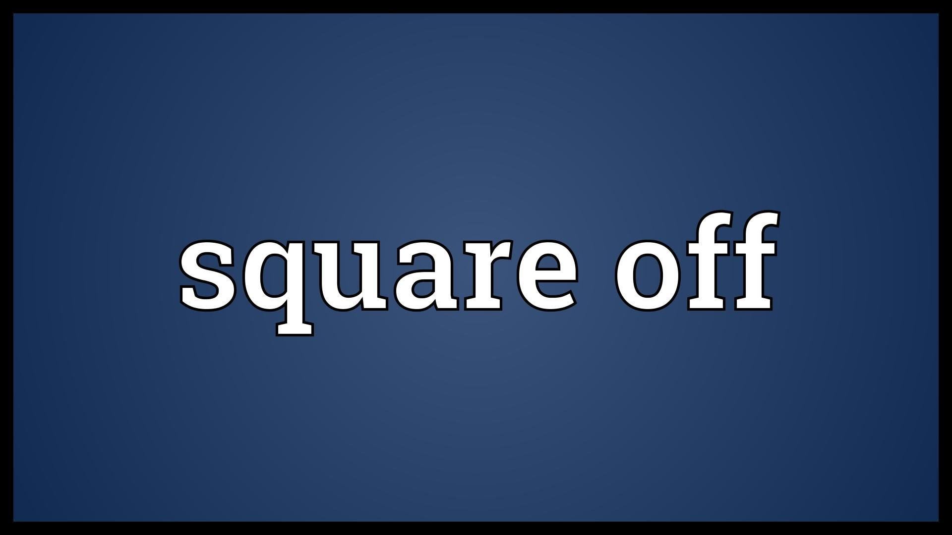 What is the meaning of square off in intraday?