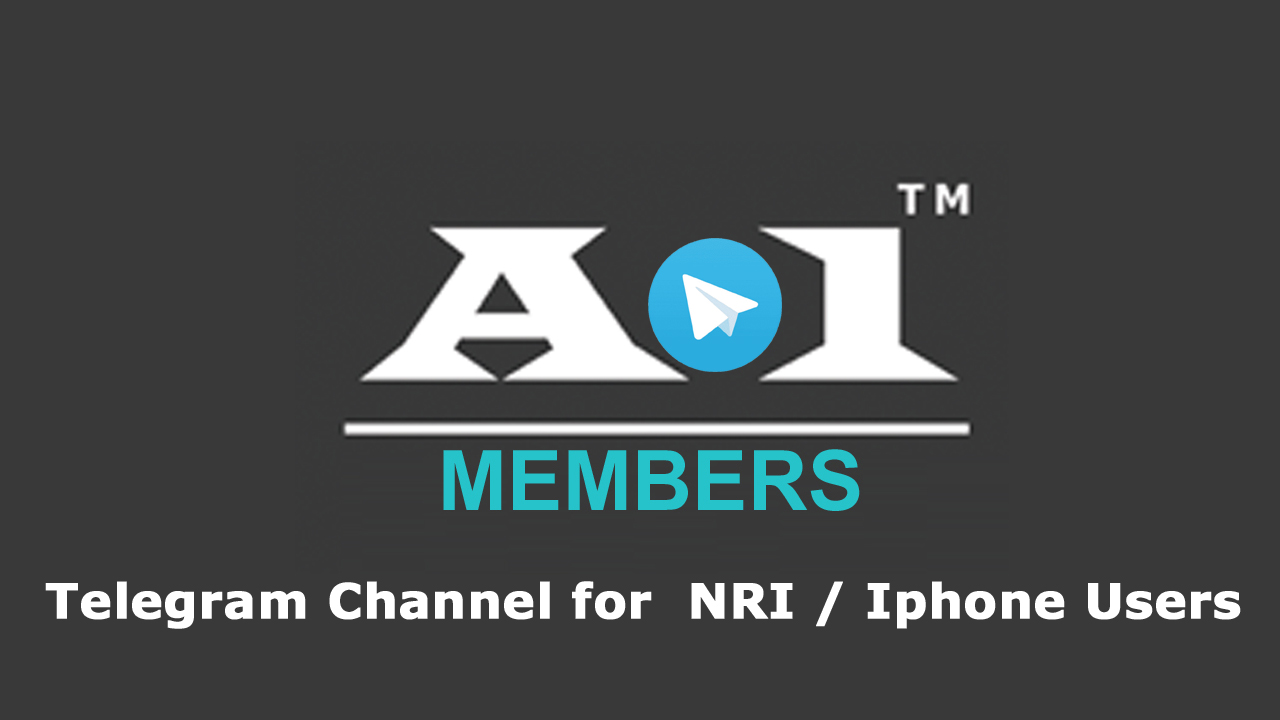 Telegram Channel For Paid Member - NRI & Iphone users